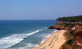 Cliff beach of southern Kerala: Varkala